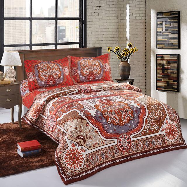 Svetanya Bohemia Bedlinen Queen Full Bed Print Bedding Sets (Duvet Cover Bedsheet and Pillowcases)