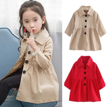 New Spring Autumn fashion design  very beautiful Children Baby Coat Autumn Jacket Outerwear Pure Color Windbreaker Clothes #35 tights