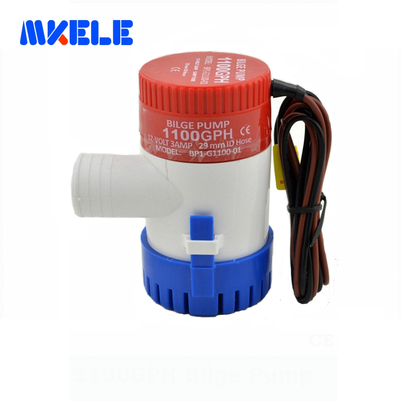 Free shipping 1100GPH 12V Bigle Pump High Flow Submersible used water in boat seaplane motor homes houseboat