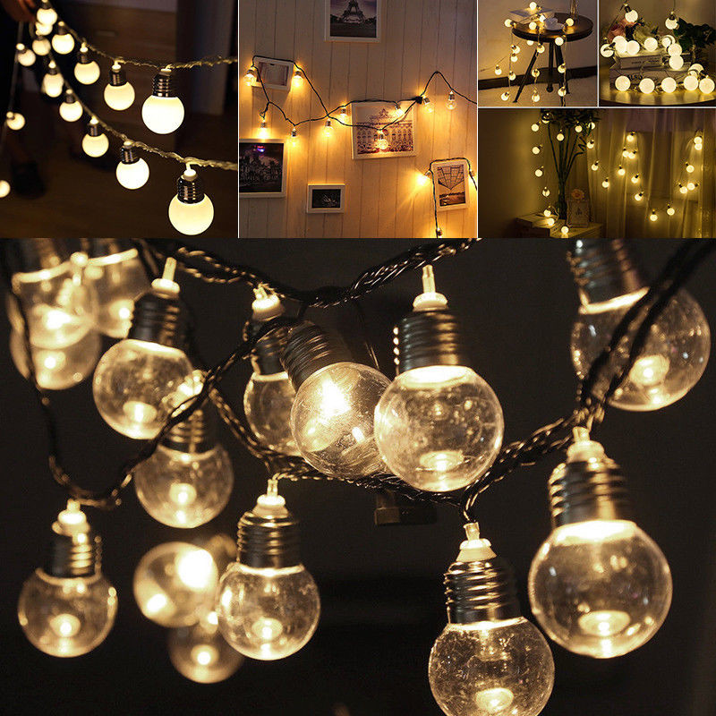 10/20 LED Solar String Lights LED Disco Stage Lights Solar Lamp Garden Decorations For Christmas Wedding Party Indoor Lighting