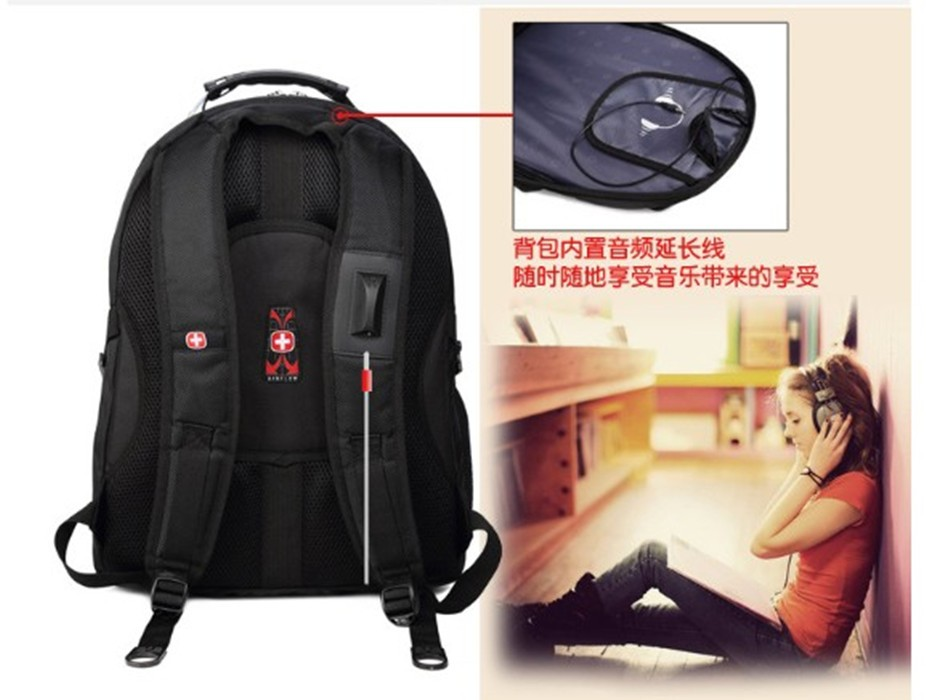 Ecoparty Nylon School Bags for Teenagers Male Bag O/L backpags 1516Laptop Bags Men's Travel Backpack Waterproof