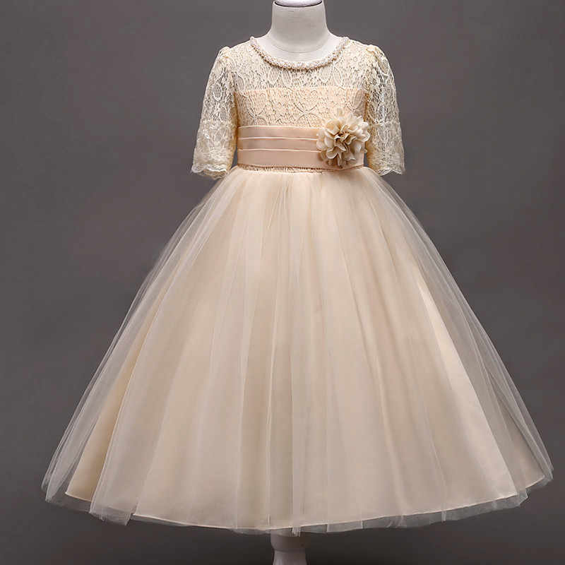 e5bbb1c1d158 2018 Baby Girls Clothes Summer Wedding Dress Kids Dresses For Girls  Children Clothing Elegant Floral Princess