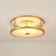 Nordic Led Copper Ceiling Lights Sround Ceiling Lamps Bedroom Living Room Lighting Ceiling Hanging Lamp Lights Lighting Fixtures lukloy cement pipe pendant lights led kitchen lights led lamp bedside hanging lamp ceiling lamps bedroom living room lighting
