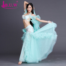 Bellydance B.u.w Brand 2017 New High Grade Women Belly Dance Costumes Performance Bra+skirt Suits For Oriental Costume By007
