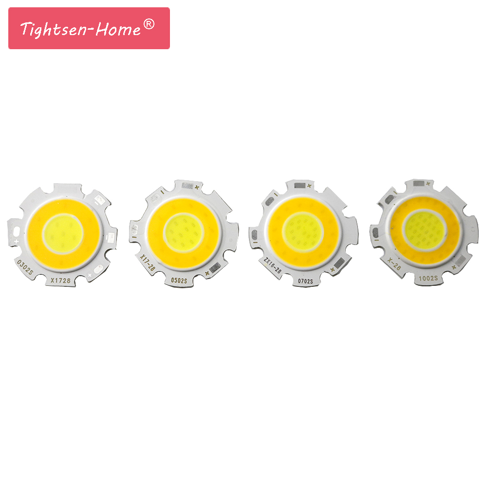 10PCS 28MM Double color 3000-6500K dimmable Round LED COB chip Light Source Module 3W 5W 7W 10W COB for led light spotlight bulb diy 3w 270lm 6500k white light flat strip led module 9 10v