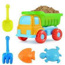 5 шт./компл. детские песок вода пляж игрушки грузовик совок грабли формы в виде животного комплект садовая песочница бассейн игрушечный автомобиль формы Забавный набор инструментов