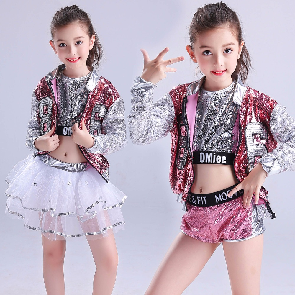 Children Dance Costume Jazz Wear New Style Sequin hip-hop Dance modern Kids Dance Competitions Performance Stage Clothing