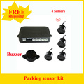 Promotion 4 Sensors 22mm Buzzer  Parking Sensor Kit  Car Reverse Backup Radar Monitor System 12V 7 Colors Free Shipping