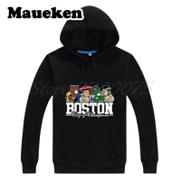 Men Hoodies Boston City For New England Bruins Red Sox Patriots Sweatshirts Hooded Thick Autumn Winter