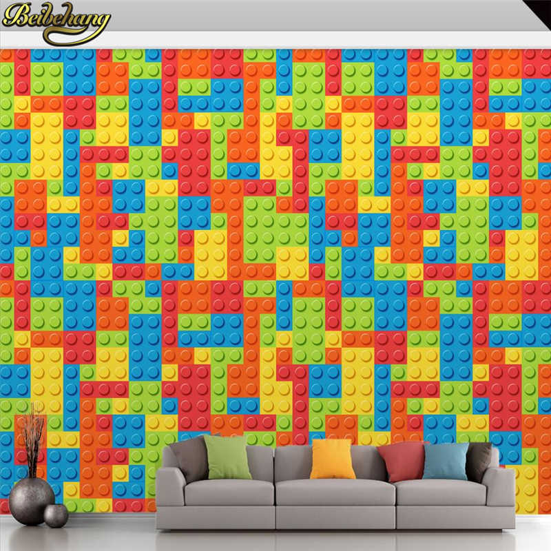 beibehang Custom Photo Wallpaper for living room 3D Lego Bricks Kids Room Bedroom Toy Baby Room photo Mural Wall paper flooring