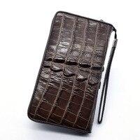 2019 Wallet men zipper multi card slots Purses item Organizer Genuine Leather Cuzdan Pocket Vallet For Man Wristlet bag Aligator