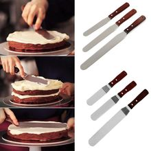 6/8/10inch Stainless Steel Cake Slicer Cake Cream Knife Spatula for Cake Smoother Icing Frosting Spreader Fondant Pastry Cake цены