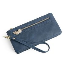 Women Leather Clutch Long Wallet PU Card Holder Purse Handbag Wristlet Bag thinkthendo women fashion pu leather clutch wallet card holder bag ladies long purse handbag
