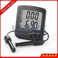 PH 02726 Multiparameter water monitoring equipment 3 in 1 Dual level LCD Digital PH TDS EC Tester Meter