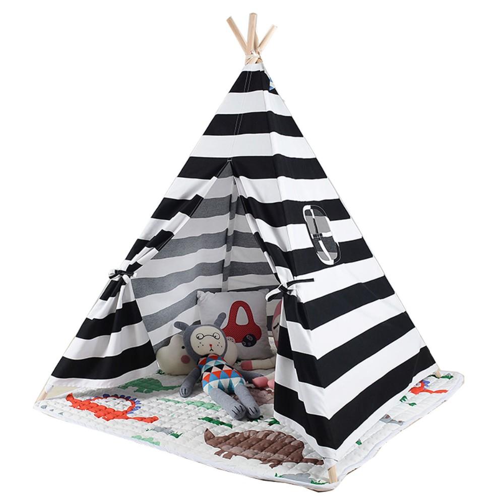 Wspaniały Biały i czarny kolor dzieci gry pokój namiot Tipi sprzedam z maty LW31