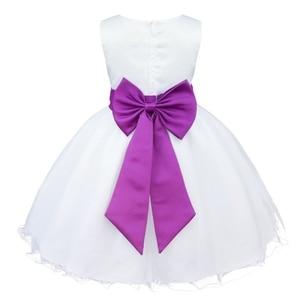 Image 4 - מותג חדש 9 צבעי TiaoBug באורך הברך פורמליות שמלות ילדה פרח לחתונה נסיכת ילדה תחרות ראשית הקודש בנות 2 14Y