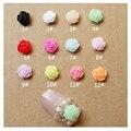 10 Unids/pack 5mm 12 colores Resina Camelia Diseño Decoraciones de Uñas de diamante de Imitación para el Teléfono Móvil Belleza Del Clavo DIY Accesorios de La Joyería