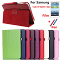 PU Leather Cover Case for Samsung tab 3 7.0 P3200 SM-T211 T210 For Tab 3 7'' Tablet Free stylus