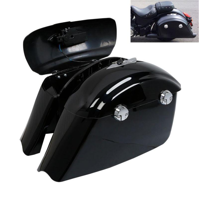 Sacoche de selle peinte avec assemblage de loquet électronique pour moto de cheval noir
