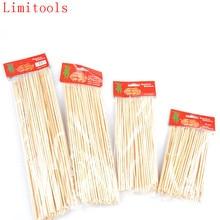 1 упаковка принадлежности для барбекю бамбуковые шампуры для гриля Shish Kabob Деревянные Палочки Барбекю Инструменты для барбекю