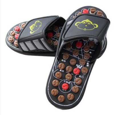 Foot massage slippers point massage shoes, sandals and slippers summer home men and women / Foot health massage slippers/tb20906  natural pebble foot massage slippers point massage shoes men and women couple home skid shoes tb20903