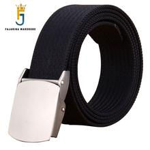FAJARINA Male Fashion Tactical High Quality Blue Nylon Belt Casual Straps Canvas Striped Belts for Men & Women Jeans CBFJ0001