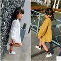 Korean children in the spring of 2017 New Girls Girls Girls Princess dress casual skirt lace dress