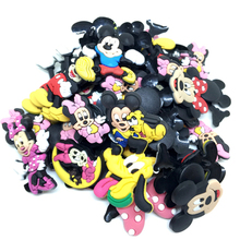Wholesale 50pcs Random Mixed Mickey Mouse Shoe Decoration Shoe Charms fit Children Croc shoes Accessories Birthday Party Gifts