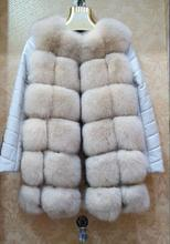 The fox fur women luxury fox long part mainly suitable for new vest -coat jacket dress
