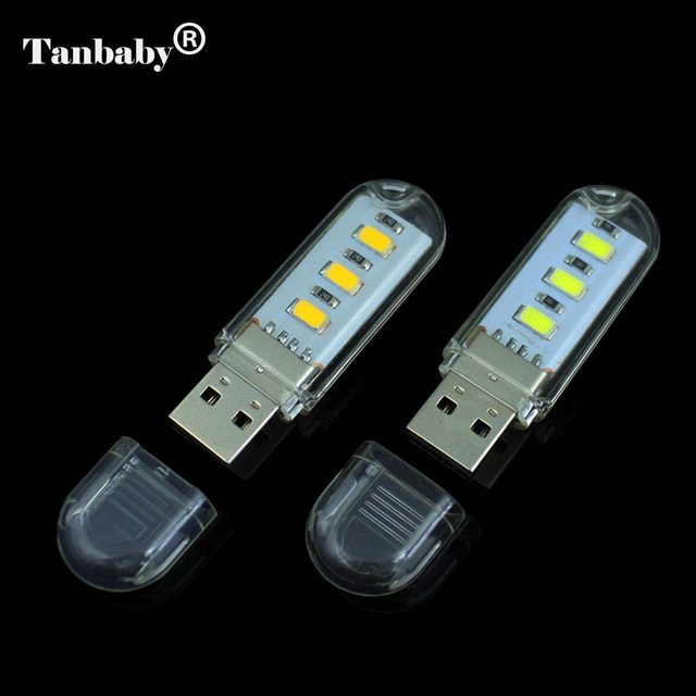tanbaby usb led light lamp 3 led smd 5730 usb lamp white for reading camping usb gadget for. Black Bedroom Furniture Sets. Home Design Ideas