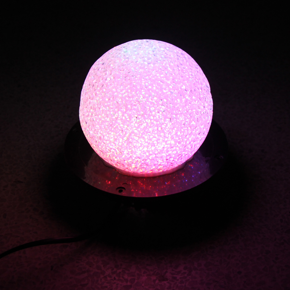 16 colors Color Change RGB LED Light Roundness Crystal Magic Ball Stage Lamp Auto Sound Activated DJ Disco KTV Party Lighting led par stage light dj disco with music activated auto run and dmx512 control mode different colors combinations of rgb rotating