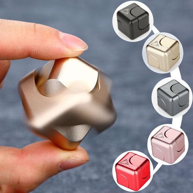 Новинка 2017 года площадь Spinner Непоседа игрушки EDC руки Spinner алюминия 688 Hybrid Керамика подшипник блесны ручной для аутизма и СДВГ