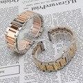 Полированный Металл ремешок для часов браслеты 18 мм 20 мм 21 мм 22 мм 24 мм ремешки Аксессуары смешанные цвета серебра желтое золото/rosegold