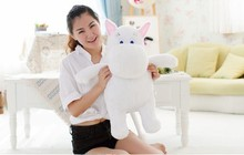 cute  white hippo toy creative plush doll cartoon moomin hippo doll gift toy about 60cm