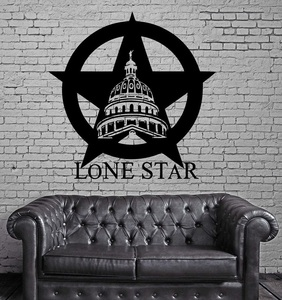 Image 1 - Texas Lone Star Cowboy State USA Map Decoration Wall MURAL Vinyl Art Sticker Living Room Bedroom Home Decor 2DT1