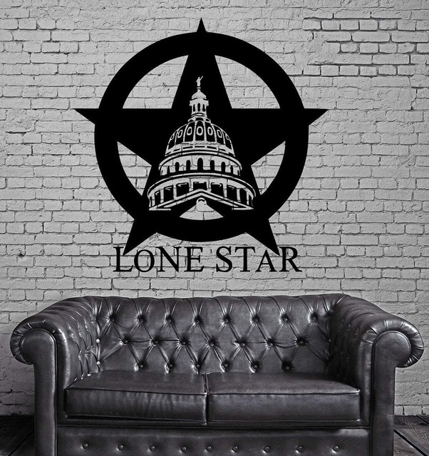 Texas Lone Star Cowboy State USA Map Decoration Wall MURAL Vinyl Art Sticker Living Room Bedroom Home Decor 2DT1