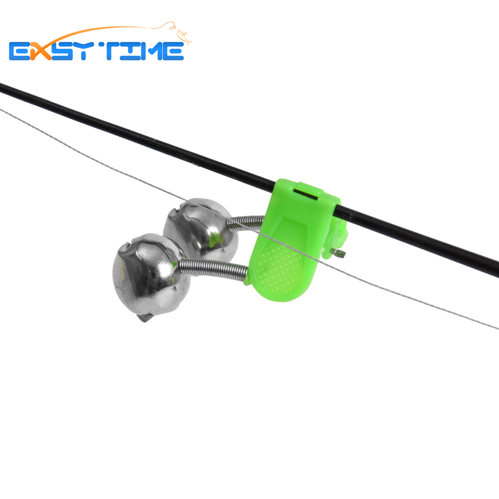 Easy time 3pcs fishing rod bite alarm bells twin bells for Bite alert fishing pole