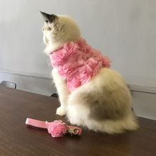 Flower Harness with Leash For Cat & Dog