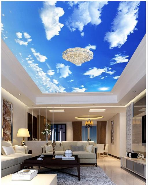 Painting Clouds On A Blue Ceiling | Taraba Home Review