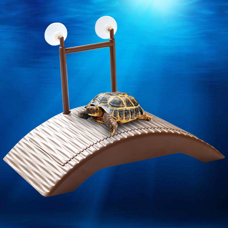 Turtle Platform Reptile Automatic Adjustable Height Island Back Bask Tool Play Toys Decoration Plastic Bridge For Reptile Case