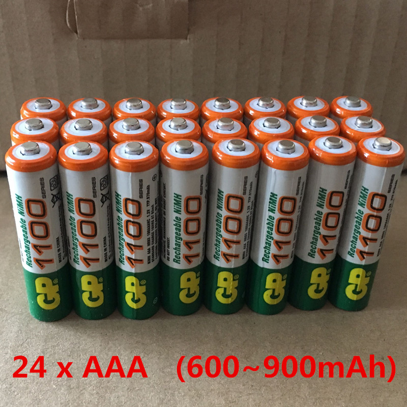 24pcs Original For GP (600-900)mAh Battery 1.2V NI-MH Rechargeable Batteries AAA bateria pilha recarregavel bateria recarregavel