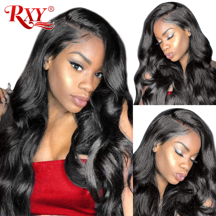 RXY Body Wave Lace Front Wig Glueless Lace Front Human Hair Wigs For Black Women Peruvian