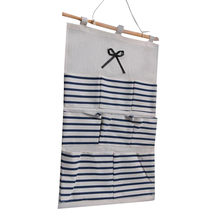 Cotton Linen Hanging Storage Bag 8 Pockets Wall Mounted Wardrobe Hang Bag Wall Pouch Cosmetic Toys Organizer dropshipping 320W(China)
