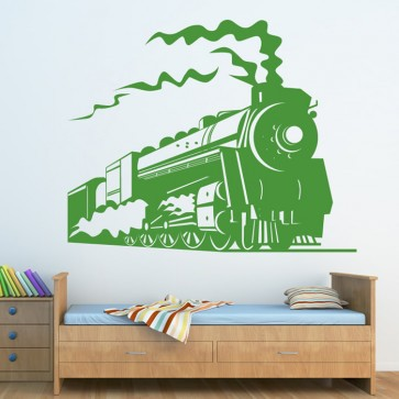 Waterproof and Removable railway train transportation Wall Art Sticker wallpaper of home decoration