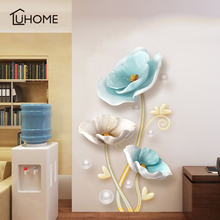 3D Lotus Wall Stickers Home Decor Large Flowers Living Room Bedroom Wall Decor Sticker on The Wallpaper Diy Home Decals