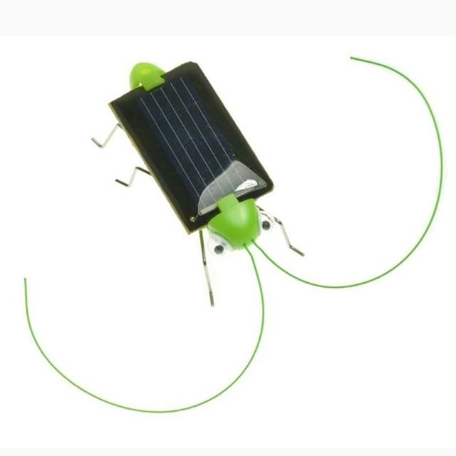 New 1 PCS Children Baby Solar Power Energy Insect Grasshopper Cricket Kids Toy Gift Solar Novelty Funny Toys 4