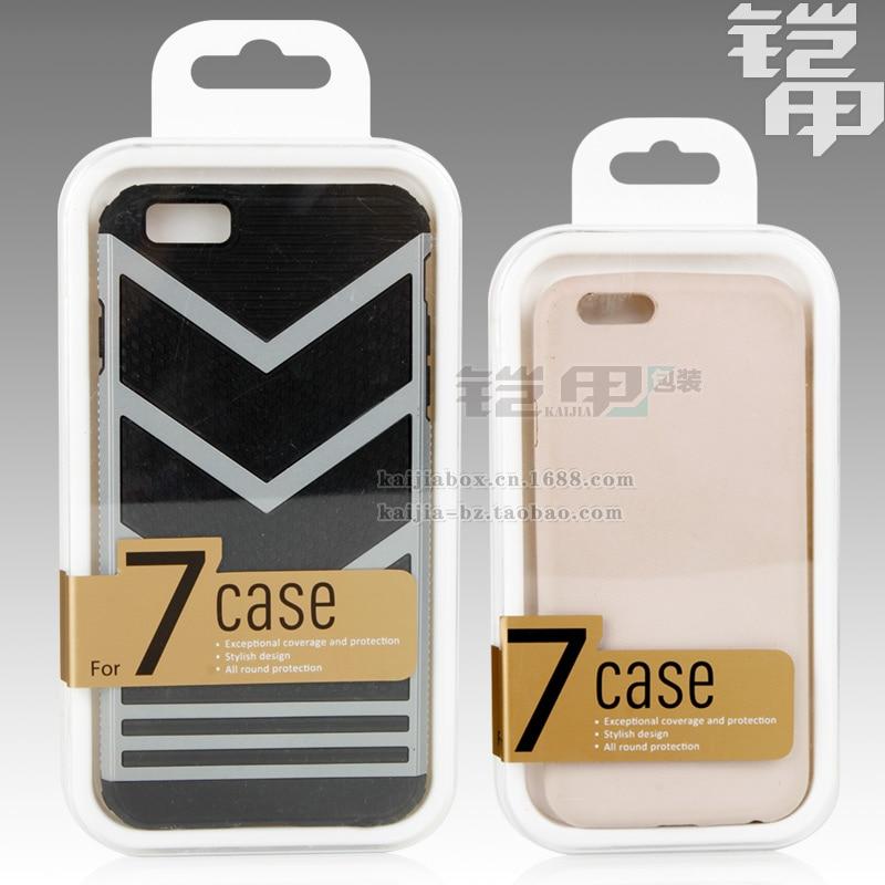 ff6672d53056 Kj-651 1000 unids al por mayor nuevo lujo elegante caja de cristal para  iphone7 7 más Paquetes caja transparente del PE plástico embalaje