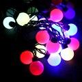 Partido de la Bola de cuerda lámparas novedad 20 LED Luz Del Adorno led Luces de Hadas de La Boda de Navidad Jardín Colgante Guirnalda Colorida