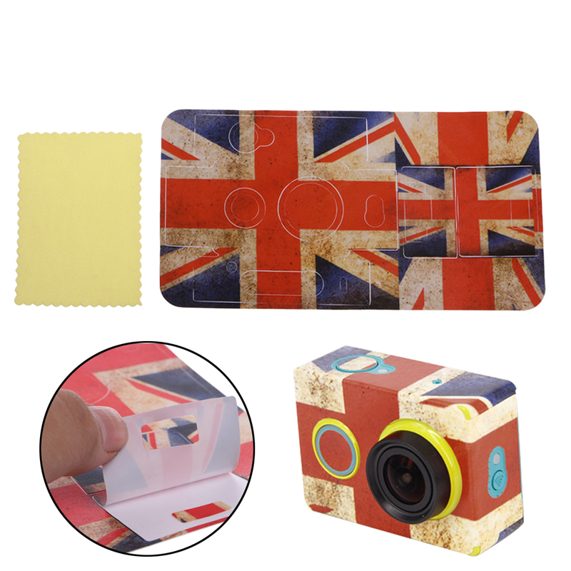 New 2017 Camcorder Sticker Skin Protector Case Sport Cam For XiaoMi Yi Action Camera Decoration Wholesales Camera Protector