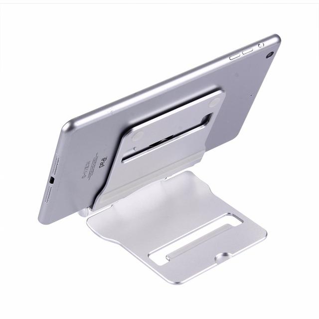 Portátil dobrável ajustável cnc da liga de alumínio desktop titular tablet suporte para ipad & iphone & tablet